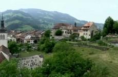 إطلالة رائعة على سويسرا من الجو HD 1080