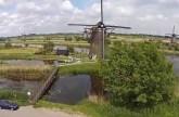 Netherlands Kinderdijk الطواحين الهولندينة من الجو